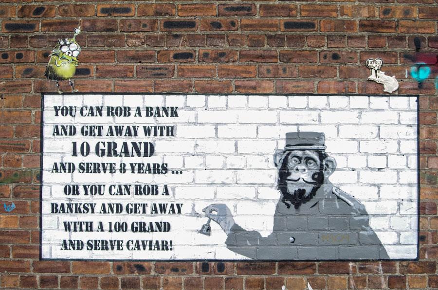 Banksy odpowiedź w formie muralu