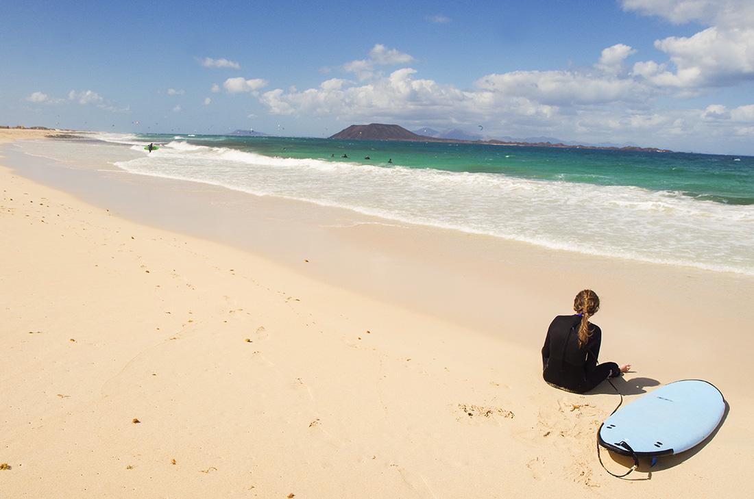 Plaża w Corralejo