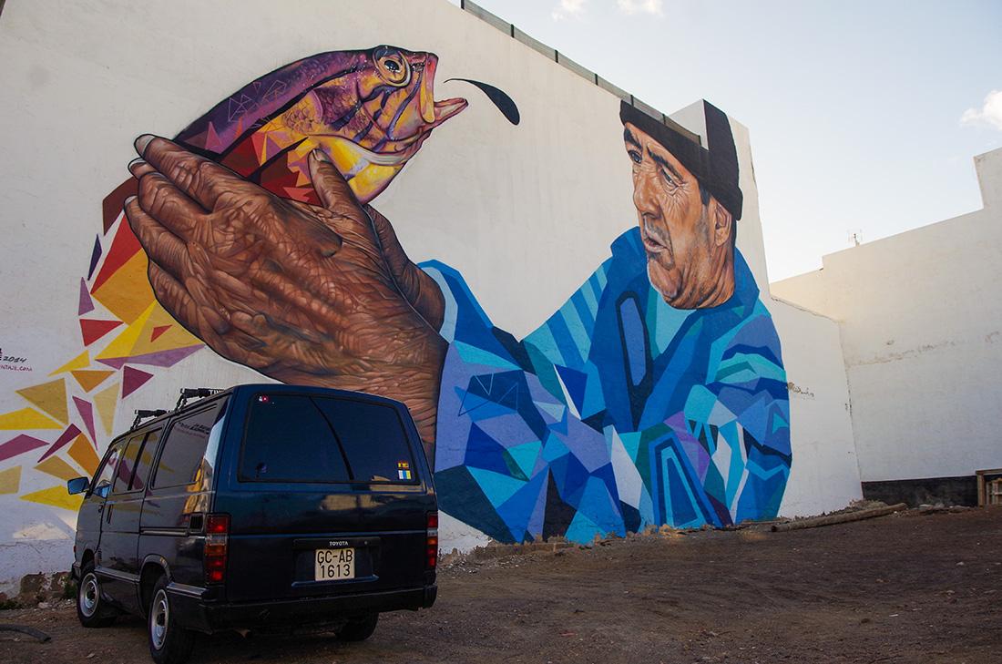 Fuerteventura - murale w Puerto del Rosario