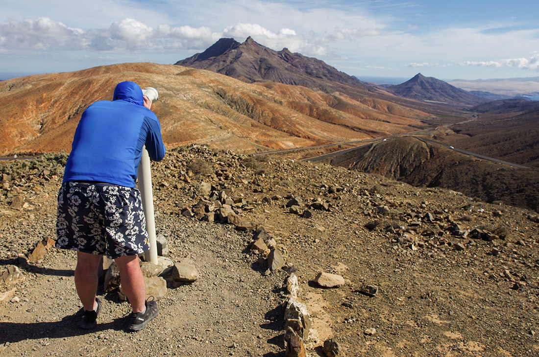 Fuerteventura - widok z punktu widokowego na Montana Cardon