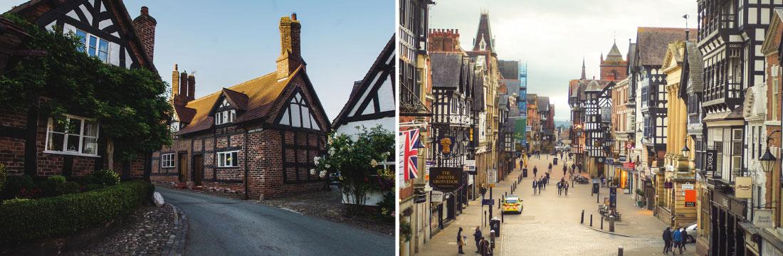 Miasteczka w Anglii - Great Budworth i Chester